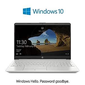 HP 15-dw0015ne Laptop | 15.6 inch FHD  | 7th Gen Intel Core i3-7020U | 1TB HDD | 4GB RAM | 8th Gen Intel HD -Graphics | Windows 10 Home | Eng-Ara KB | Silver