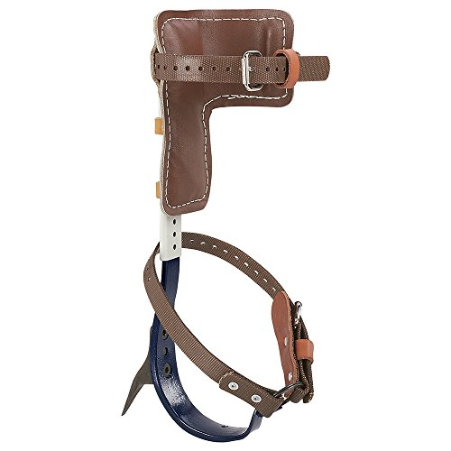 Tree Climber Set, Includes Cushioned Pads, Straps, Leg Irons, Stirrups, Gaff Hooks Klein Tools CN1907ARL (Climbing Gear Tree)