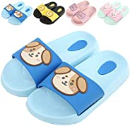 KK-Jim Kids Summer Lightweight Slide Sandals,Cute Animal House Slippers,Boys Girls Non-Slip Slides Sandals Wat
