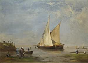 'Eugene Fromentin - The Banks of the Nile,1874' oil painting, 20x28 inch / 51x72 cm ,printed on Cotton Canvas ,this Imitations Art DecorativePrints on Canvas is perfectly suitalbe for Nursery gallery art and Home gallery art and Gifts