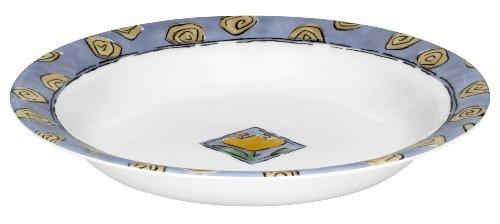Corelle Livingware 15-Ounce Rimmed Soup/Salad Bowl, Watercolors