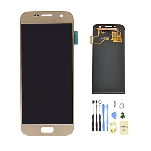 Eachbid LCD display Digitizer Touch Screen Assembly for Samsung Galaxy S7 SM G930 G930F G930A G930V G930P With 11 in 1 Tools Kits Gold