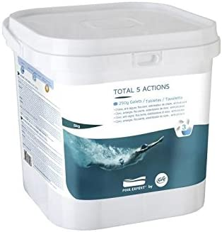 Gre 76036 - Pastillas Multiacción para el tratamiento completo de la piscina, 5 acciones, 5kg