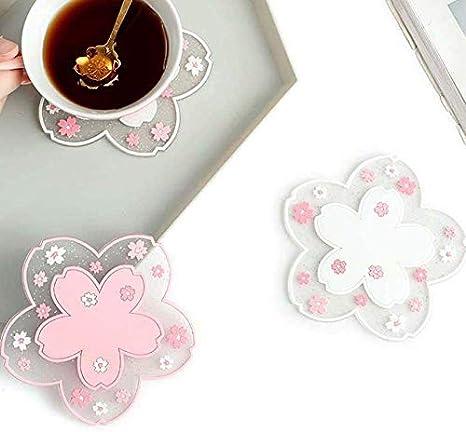 Sakura PVC Cup Coaster Mat Anti Slip Bowl Pad Heat Resistant Hot Pot Holder