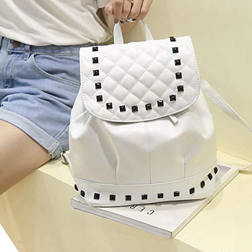 Trendy Student For Rucksack School Leather Pu Women Teenage Rivet Backpack Travel Fantasyworld Fashion Bag qxwaBvAB