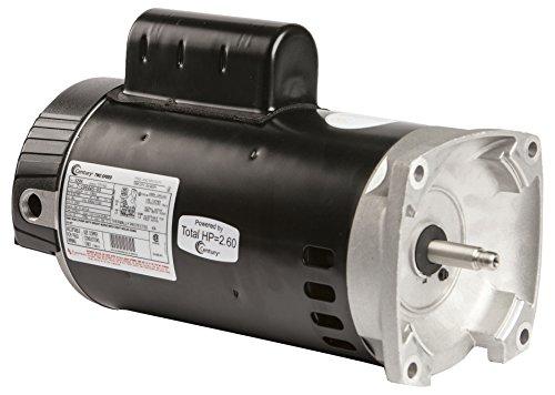 2 Speed Motor Flange Square - Century UB2984 2 1/4 hp 2 Speed Square Flange Pool Pump Motor