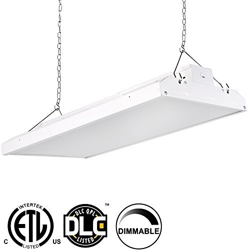 Hykolity LED High Bay Shop Light, 2FT 110W Linear LED Industrial Workshop Light, Warehouse Aisle Area Light 14300lm, 5000K Daylight, 4 Lamp Fluorescent Equivalent, 1-10V Dim, UL, DLC Complied, 1 Pack
