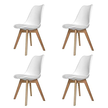 PACK SILLAS NEW TOWER WOOD BLANCA