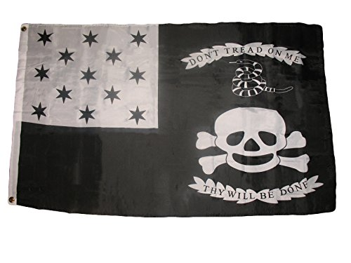 ALBATROS 3 ft x 5 ft War of 1812 American Flag Tread Gadsden Tea Party Snake Pirate Banner for Home and Parades, Official Party, All Weather Indoors Outdoors