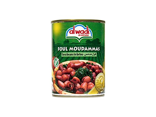 Price comparison product image Al Wadi Foul Moudammas - Fava Beans in Brine,  14-Ounce (Pack of 12)