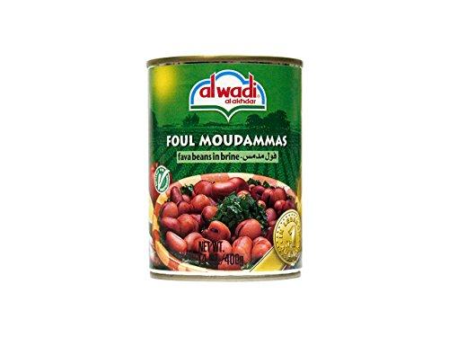 Al Wadi Foul Moudammas - Fava Beans in Brine, 14-Ounce (Pack of 12) -