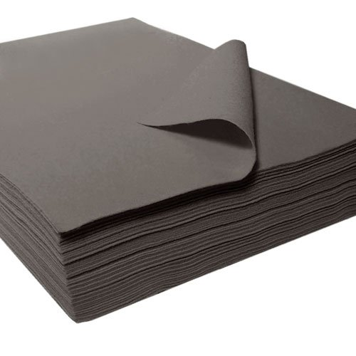 "Acrylic Felt Sheet 9"" X 12"": 25 PCS, Charcoal by The Felt Store"