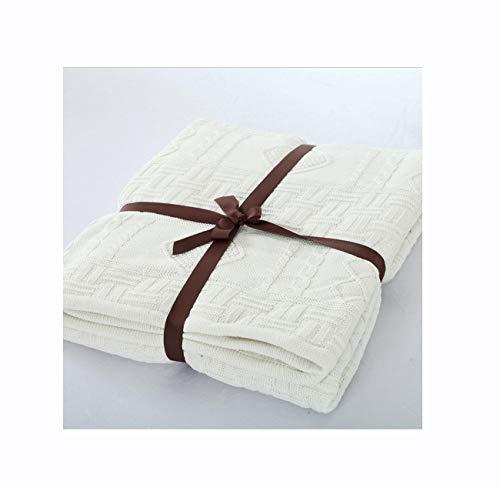 Isa Cálida Manta Suave de algodón La Cama arroja un sofá de 2 o 3 plazas Manta de patrón de Punto más Terciopelo