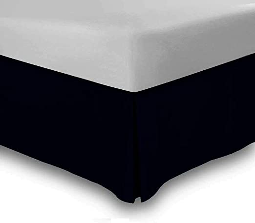 Solid White Tailored Bed Skirt 550 TC Cotton SPLIT Corner All Bed Size Drop Sale