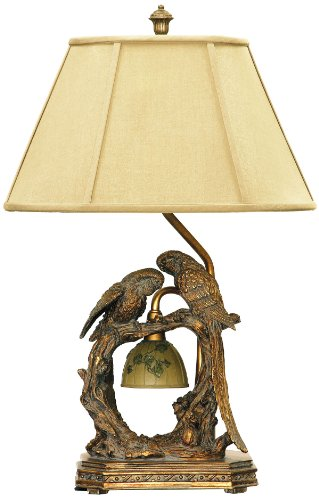 Lamp Acrylic One Light Table (Dimond Lighting 91-507 Twin Parrots 2-Light Traditional Table Lamp, 11