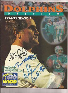 MIAMI DOLPHINS 1994 Preview PROGRAM 4 AUTOGRAPHS Don Nottingham