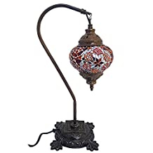 Mosaic Table Lamp,16.5 inches height, Desk Light, Lantern, Boho Lamps, Eclectic Decorating, Moroccan House, Marrakesh Design, Turkish Lights, Rustic Furniture, Beach Style, Christmas Gift