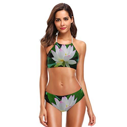 SLHFPX Womens Bikini Set Taj Mahal Palace Colorful Oil Painting 2 Piece Tankini Girls Monokini Tie-Back Beachwear