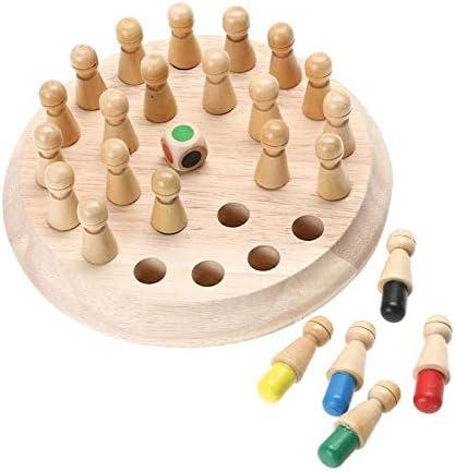 LQW HOME Ajedrez 1set Madera Partido Memory Stick Juego de ajedrez Infantil temprana 3D educativos del Rompecabezas de la Fiesta Informal de la Familia Juego Rompecabezas (Color : Dark Khaki): Amazon.es: Hogar
