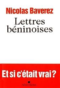 Lettres béninoises par Nicolas Baverez