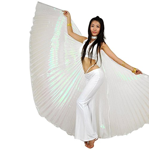 Belly Dance Isis Wings (Pilot-trade Women's Egyptian Egypt Belly Dance Costume Bifurcate Isis Wings Whtie)