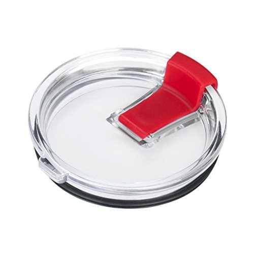 Mchoice Spill And Splash Resistant Lid With Slider Closure for 30 Oz (Red)