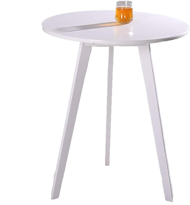 Nieuwe Stijl CAGYMJ Bijzettafel, ronde tafel, koffietafel, eenvoudig te monteren, vintage wit 4TvzFK4
