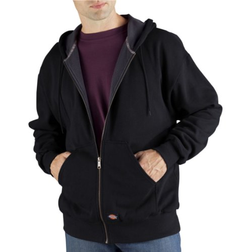 Dickies Men's Thermal Lined Fleece Jacket, Black, X-Large