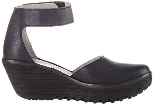 FLY London Women's Yand709fly Wedge Sandal Navy(black) best seller for sale free shipping manchester great sale from china low shipping fee 7AgrA