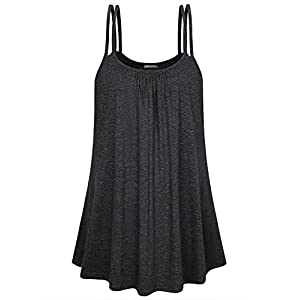 752ace1055690 Kimmery Womens Summer Sleeveless Flowy Spaghetti Straps Camisole Tank Tops