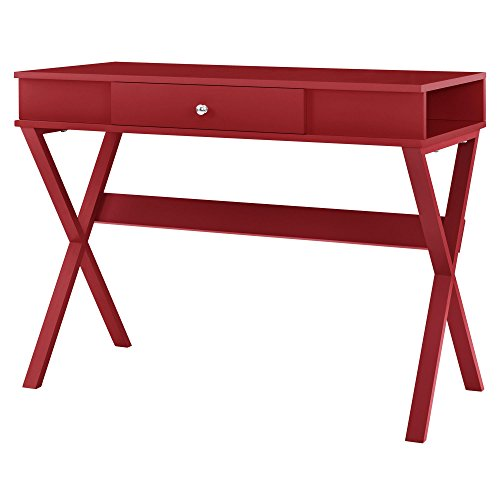 Ameriwood Home 9258196COM Paxton Campaign Desk, Red]()