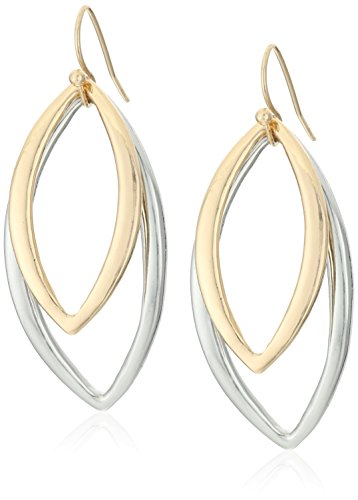 t-tahari-silver-and-gold-drop-earrings