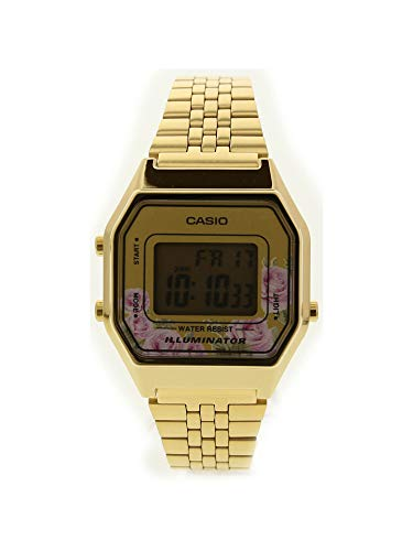 (Casio LA680WGA-4C Women's Vintage Gold Tone Alarm Digital Watch )