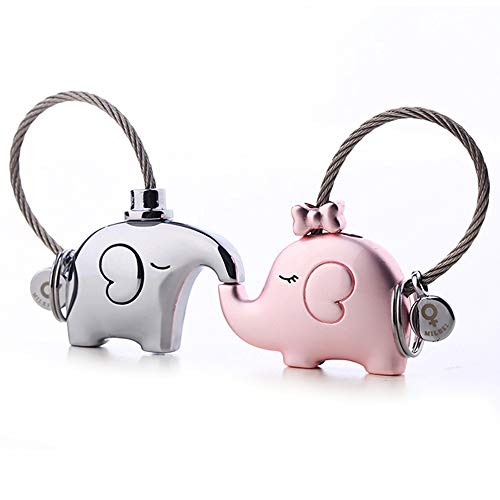 MILESI Original Fantastic Kissing Elephant Couple Keychain Cute Pendant Couple Gift Valentine