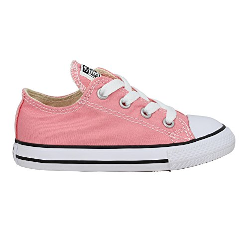 Converse Chuck Taylor All Star Ox Daybreak Pink Textile Junior Trainers Pink