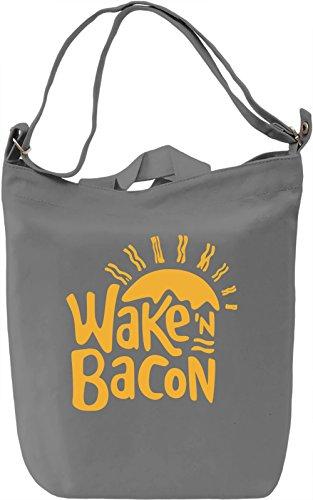 Wake'n Bacon Borsa Giornaliera Canvas Canvas Day Bag| 100% Premium Cotton Canvas| DTG Printing|