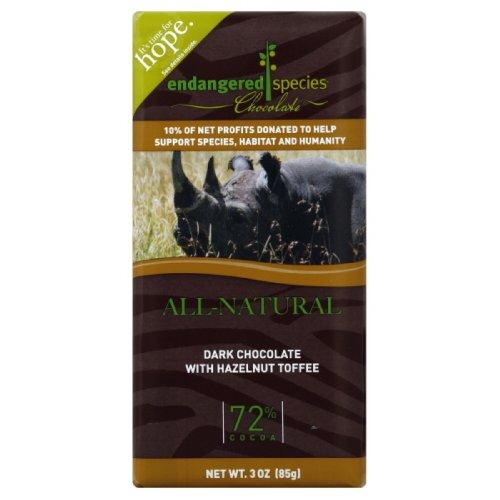 Endangered Species Chocolate Dark Hazelnut Rhino, 3-ounces (Pack of ()