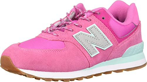 New Balance Girls 574v1 Lace-Up Sneaker, Light Carnival/, 1.5 F M US Toddler (1-4 Years)