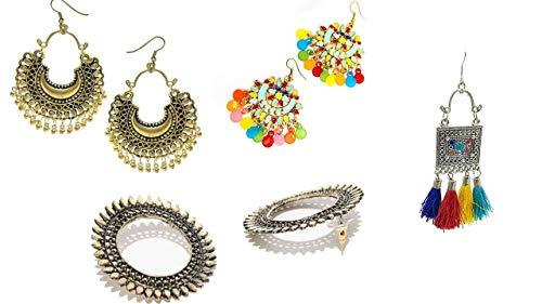 Alloy Jhumki Earrings for Women  amp; Girls, Gold