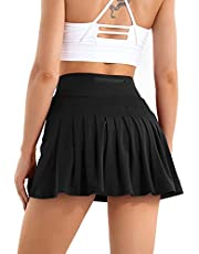 Betaven Pleated Tennis Skirts for Women with Pockets Athletic Running Golf Skirt Shorts