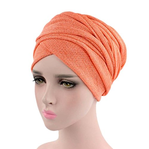WOCACHI Hats And Caps Stretch Headwear Turbans for Women Wrap Cap Africa Muslim Long Hair Head Scarf (Africas Best Rinse)