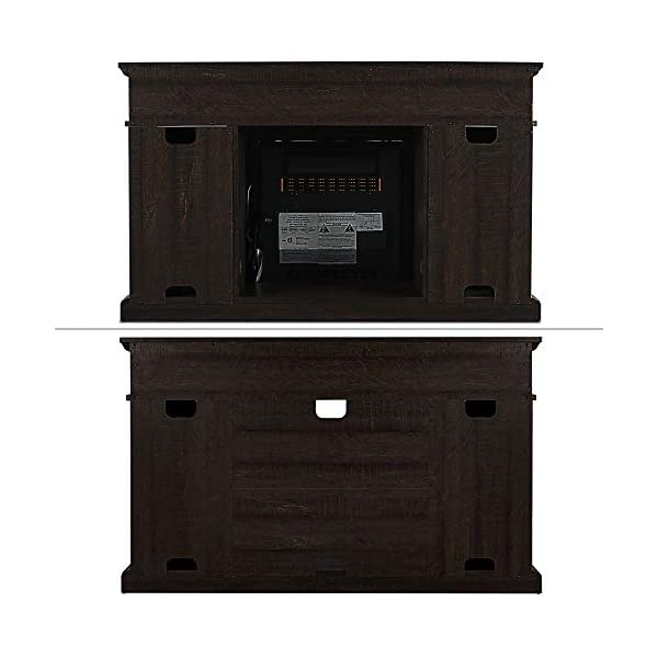 "BELLEZE TV Stand for TVs Up to 50"" Media Console Table Living Room Storage W/Electric Fireplace, Espresso"