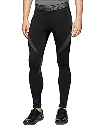 Calvin Klein Men's Black Performance Stretch Compression Pants