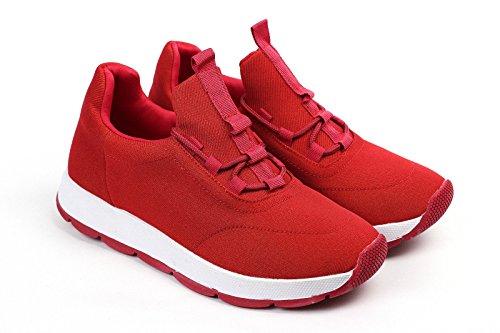 Chaussures EU Femmes Baskets Chaussures Femmes Baskets JAS 36 Mode Lacet Plat Rouge Gym YdqqP0