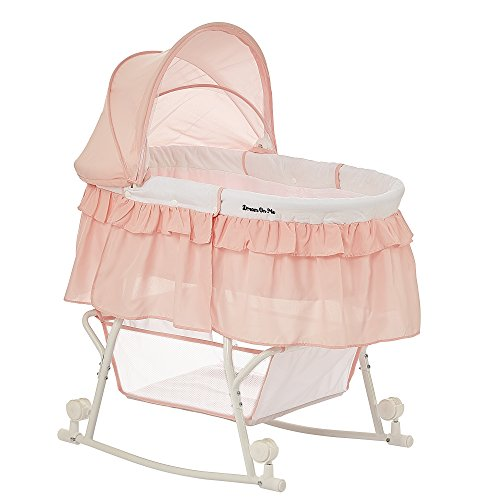 Read About Dream On Me Lacy Portable 2 in 1 Bassinet and Cradle, Rose Quartz