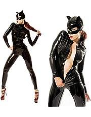 SZGDYF Uniforme del Juego PVC Cuero de Imitación Disfraz de Catwoman Catsuit Cosplay Uniforme de Club Nocturno