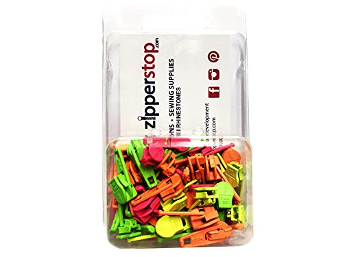 ZipperStop Wholesale - Zipper Repair Kit Solution #3 coil YKK brand slider use in sewing or jewelry -Choice of brights, neutrals, or mix (30pc Mix Neon)