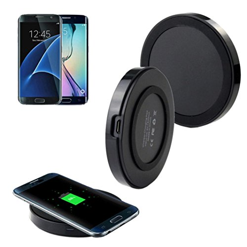 Bessky For Samsung Galaxy S7/S7 EdgeHigh Quality Qi Wireless Charger Charging Pad (Black)