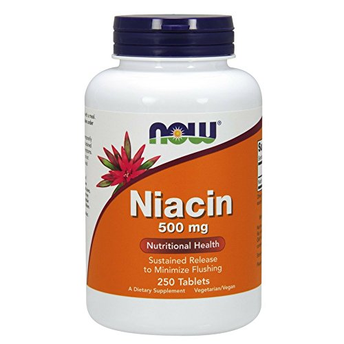 NOW  Niacin Sustained Release,250 Tablets