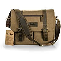 Messenger Bag for Camera and Laptop // Premium Grade Leather and Canvas for DSLR Professional and Mirrorless Setups - // The Mariner // By Portage Supply Co. NEW! FALL 2017!